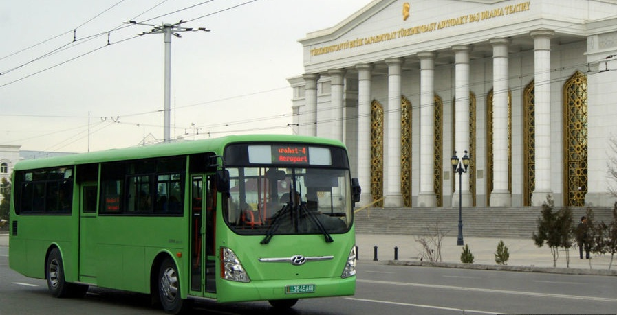 Bus, Public Transport, Ashgabat, Turkmenistan