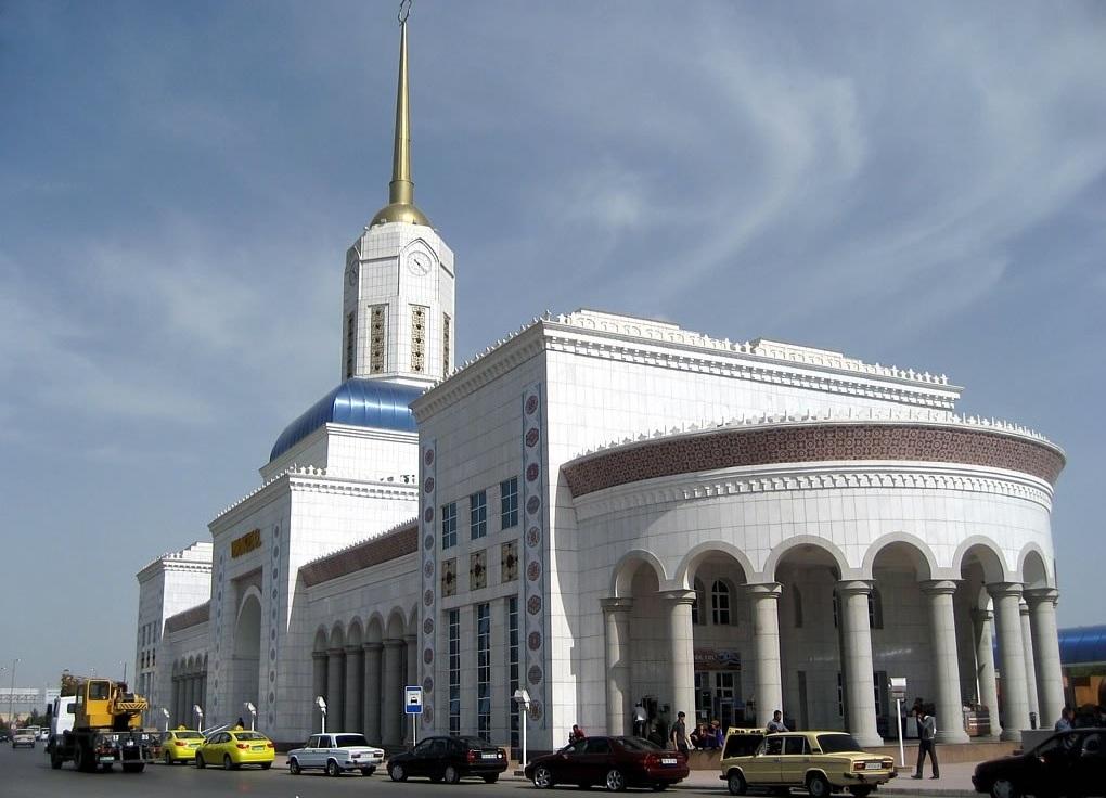 Railway Station, Ashgabad Turkmenistan