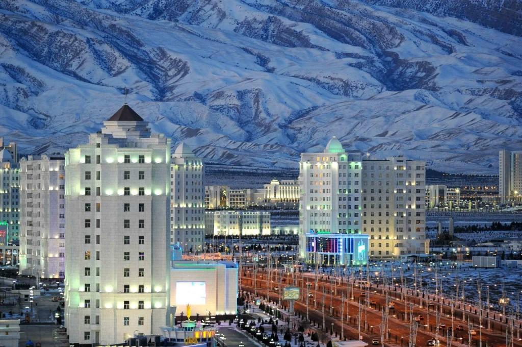 Winter in Ashgabad, Turkmenistan