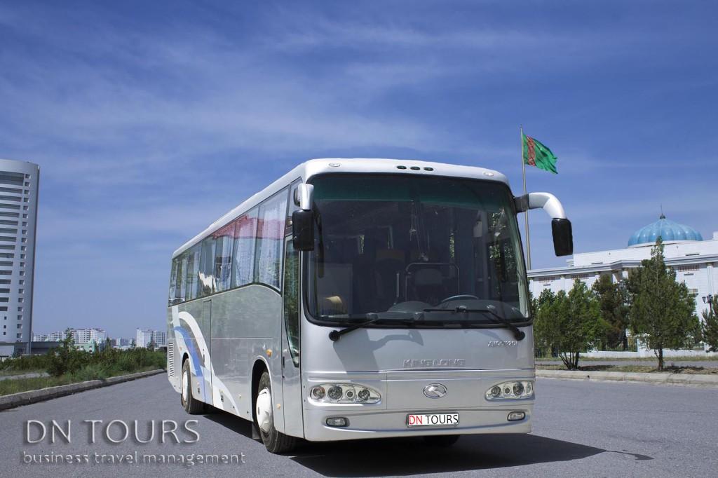 Bus, DN Tours business travel agency, rent a car Ashgabat Turkmenistan