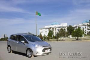 Ford B-max, DN Tours business travel agency, rent a car Ashgabat Turkmenistan