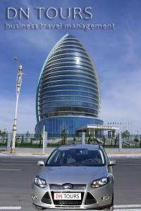 Ford Focus, DN Tours business travel agency, rent a car Ashgabat Turkmenistan