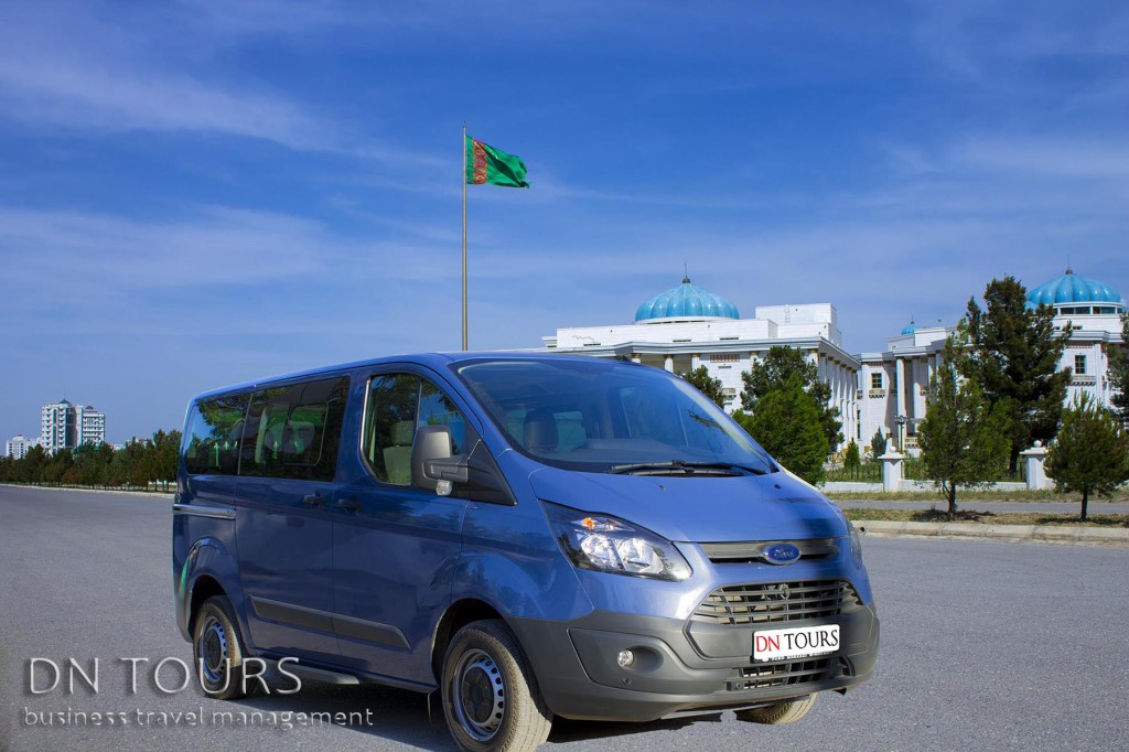 Ford Tranzit, DN Tours business travel agency, rent a car Ashgabat Turkmenistan