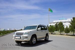 Toyota Prado, DN Tours business travel agency, rent a car Ashgabat Turkmenistan
