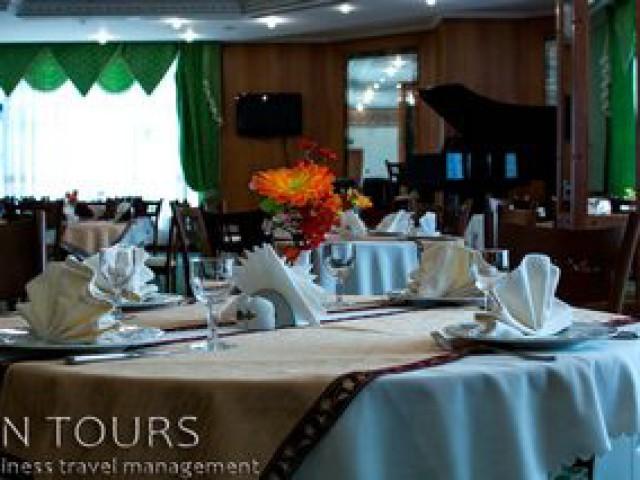 Restaurant, Turkmenbashi Hotel, Turkmenbashi city, Turkmenistan