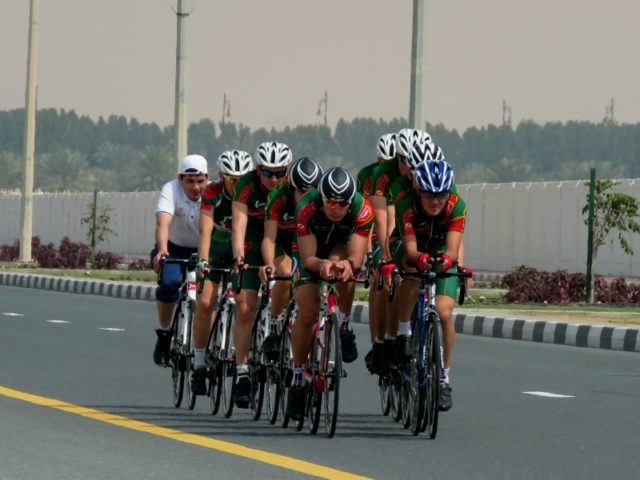 A training camp for cyclists from Turkmenistan held in the UAE
