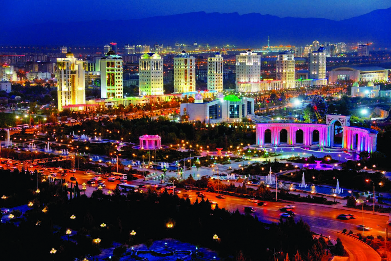 Capital Turkmenistan Ashgabat on Modern Border