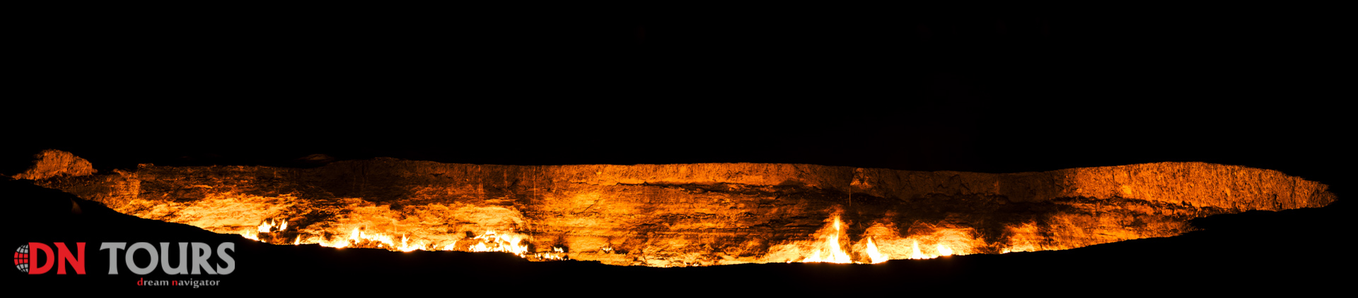Darvaza Door to Hell gas crater Turkmenistan